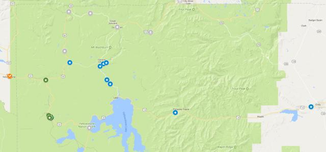 GeneralMap - Yellowstone Park